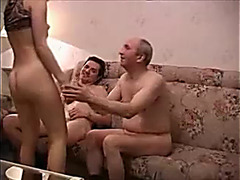 Husband shares hot wife with old guy