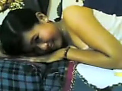 Cute Malaysian wife takes cock and masturbates it in bed