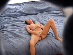 Voyeur clip of my gf jilling off