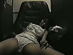 Japanese gal masturbating in clip room