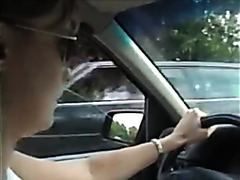 Handjob in the moving car