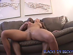 Becky bonks a darksome stranger and squirts all over the place