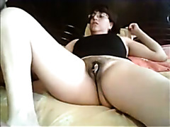 Chubby milf slut masturbation video