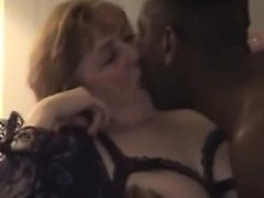 Breasty golden-haired wife and dark paramour