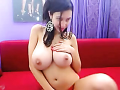 latina with big melons teases on cam