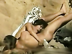 Awesome Latina blowjob on the beach