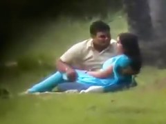 Desi Paramours in Park Chap Playing With Her Pantoons