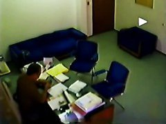 Quick amateur blow in the office