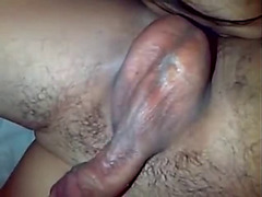 Indonesian girl sucks and lick his ass