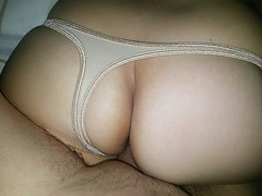 GOLD THONG!! BIG ASS!!