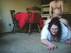 Skinny Guy Fucking Fat BBW Ex Girlfriend on the Floor